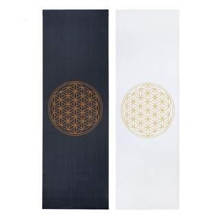 Design yogamåtte FLOWER OF LIFE, The Leela Collection 4,5 mm | trykt klæbrig måtte