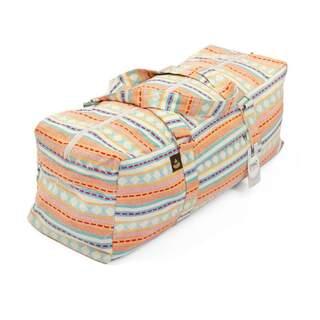 Yoga Kit taske | ETHNO Collection | abrikos-lyseblåt mønster Stor taske med lynlås | Jacquard stof