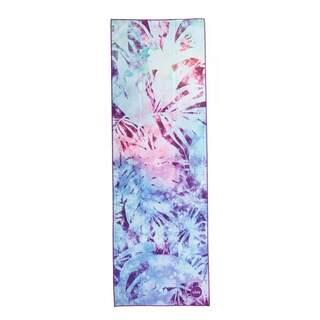 Yoga håndklæde GRIP² - Arktiske blade 183 x 61 cm med skridsikre prikker