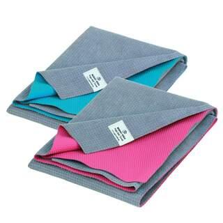 Yogahåndklædemåtte YATRA, mikrofiber med TPE-belægning Yogahåndklæde eller rejsemåtte? Det er begge dele!