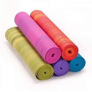 Yogamåtte GANGES 6 mm, alsidig mat til alle typer yoga