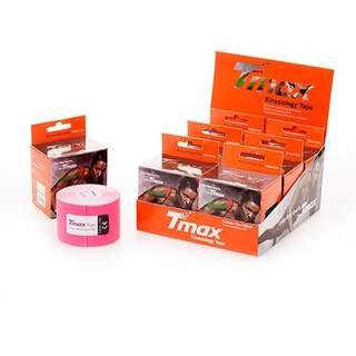 Tmax Kinesiologi Tape PRECUT - Pink 20 stk. 5x25cm