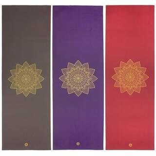 Rishikesh Premium Golden Mandala Yogamåtte - 183 x 60 cm. x 4,5 mm.