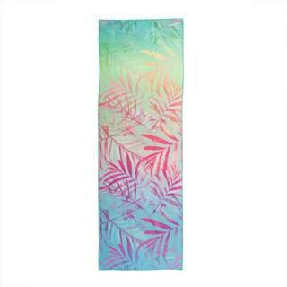 Yoga håndklæde GRIP² - Jungelfeber 183 x 61 cm med skridsikre prikker