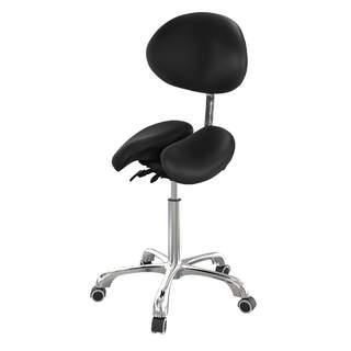 Behandlerstol / Sadelstol med delt sæde og justerbar ryglæn