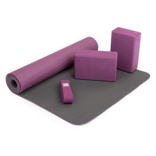 Yoga Sæt FLOW  1 yogamåtte, 2 yogablokke, 1 yogabælte