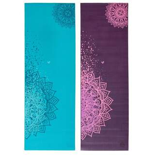 Leela Collection Flerfarvet Mandala Yogamåtte - 183 x 60 cm. x 4 mm.