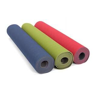 TPE yogamåtte LOTUS PRO LIGHT 4 mm - blød med godt greb, 100% genbrugsbjælke