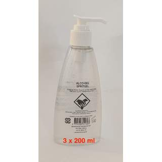 Hånddesinfektion 3 x 200 ml GEL (85%)